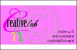 visitekrt logo B creativelab72 watermerk